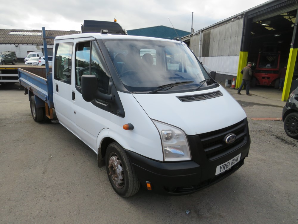2011 61 reg FORD TRANSIT 350 115 DOUBLE CAB DROPSIDE
